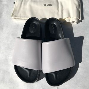 Celine by Phoebe Philo leather slides